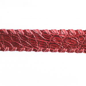 Lost Art Alligator Ring Belt burgundy SWATCH