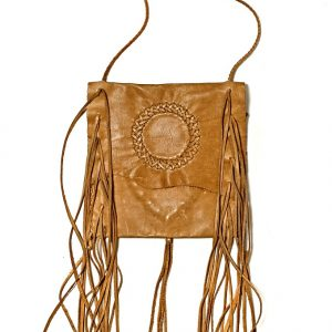 Lost Art Fringe Bag with Tan NuBuck Leather