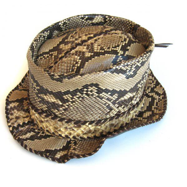 Lost Art Python Skin Hat - Lost Art Store - Jordan Betten 250ba2bdeea