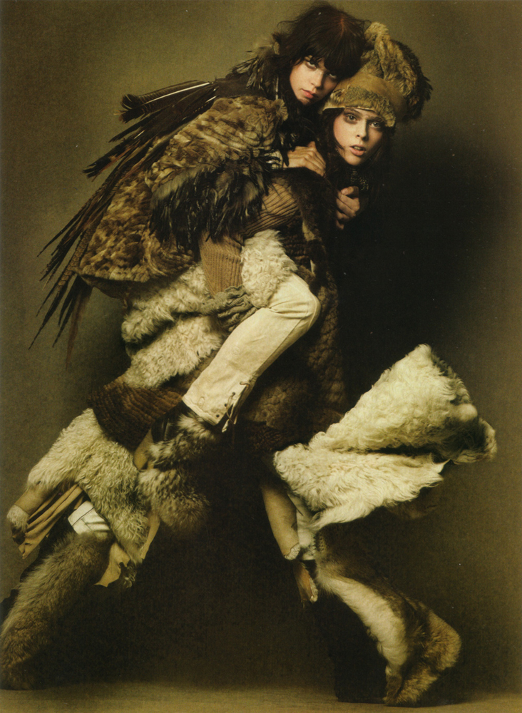 Female model wears lost art fur shawl with a hood and lost - Lost in vogue ...